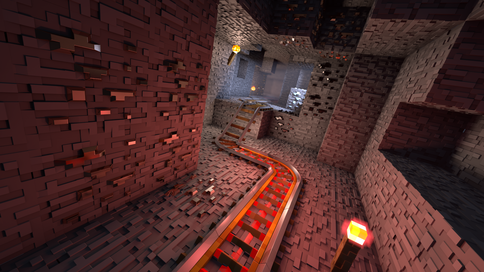 Most Inspiring Wallpaper Minecraft Red - minecraft_rails_redeux_by_krist_silvershade-d7qbyxi  Gallery_463097.png