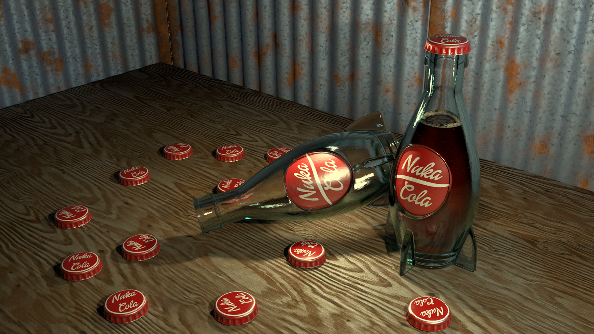 nuka cola 3d stereograph 3d assets included by krist silvershade on