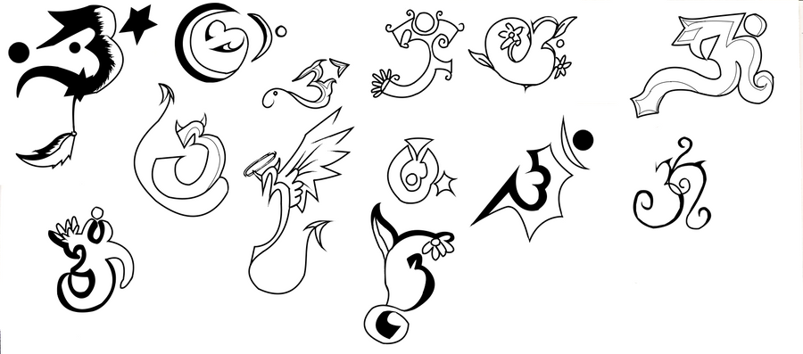 Number 3 Tattoo Ideas: Power Of 3 Tattoo Designs By Shauntinasha On DeviantArt