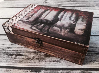 Handmade box with image transfer  by eleana1987