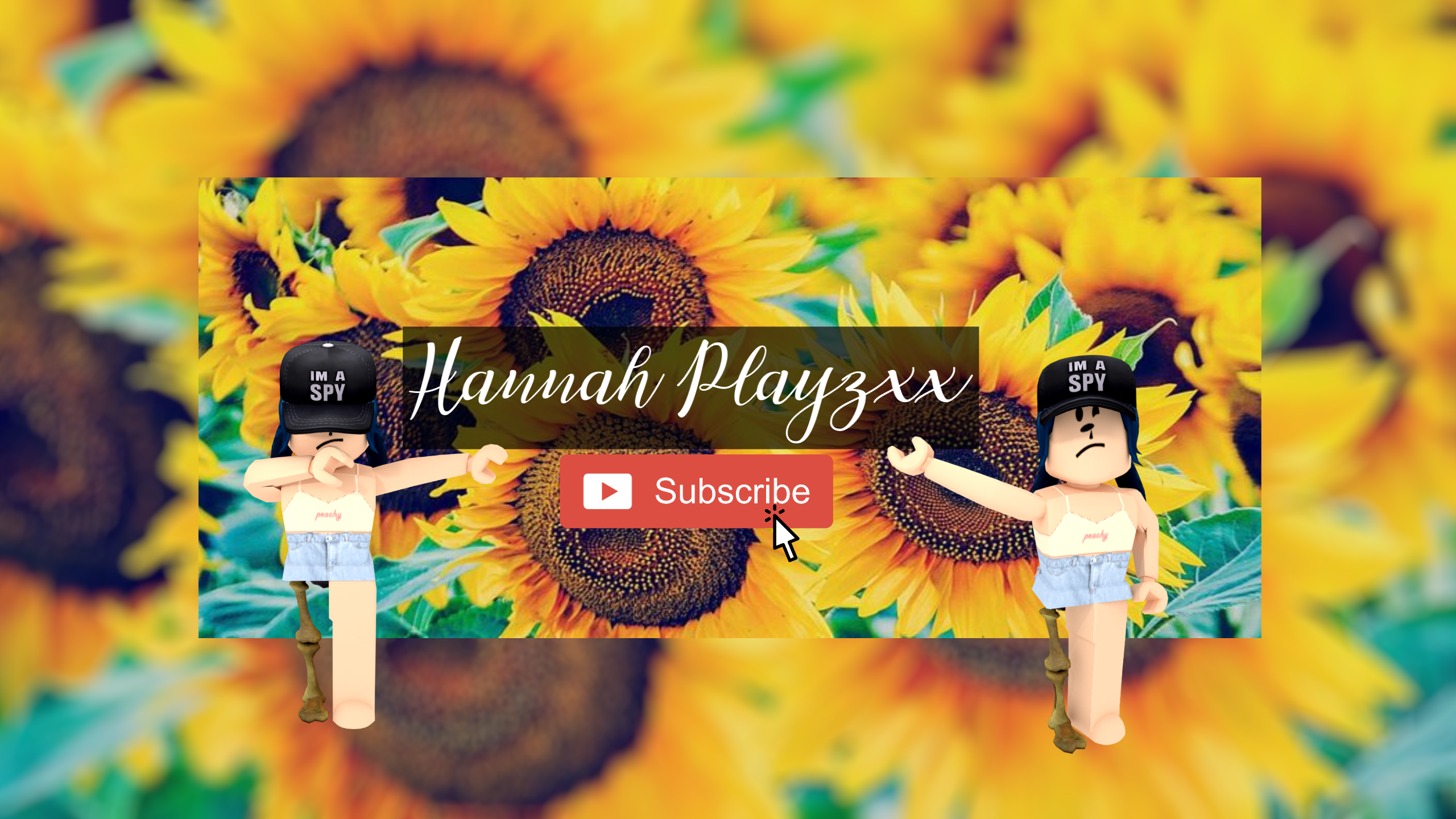 Roblox Gfx Youtube Icon Youtube Hannah Playzxx Youtube Banner Roblox Render By Robloxminis On Deviantart
