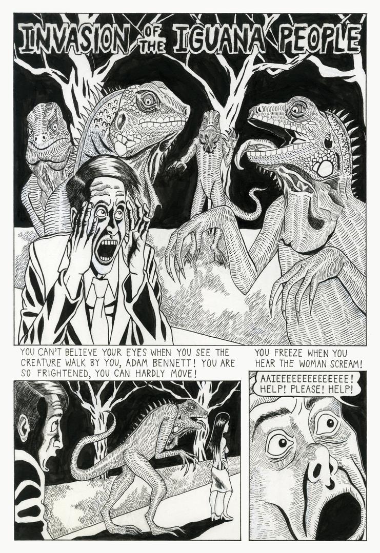 Invasion of the Iguana People pg. 1 by WellingtonSun