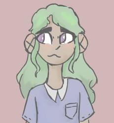 green haired kiddo by TheOrignalFangirl