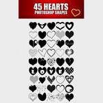 Free 45 Heart Custom Shapes