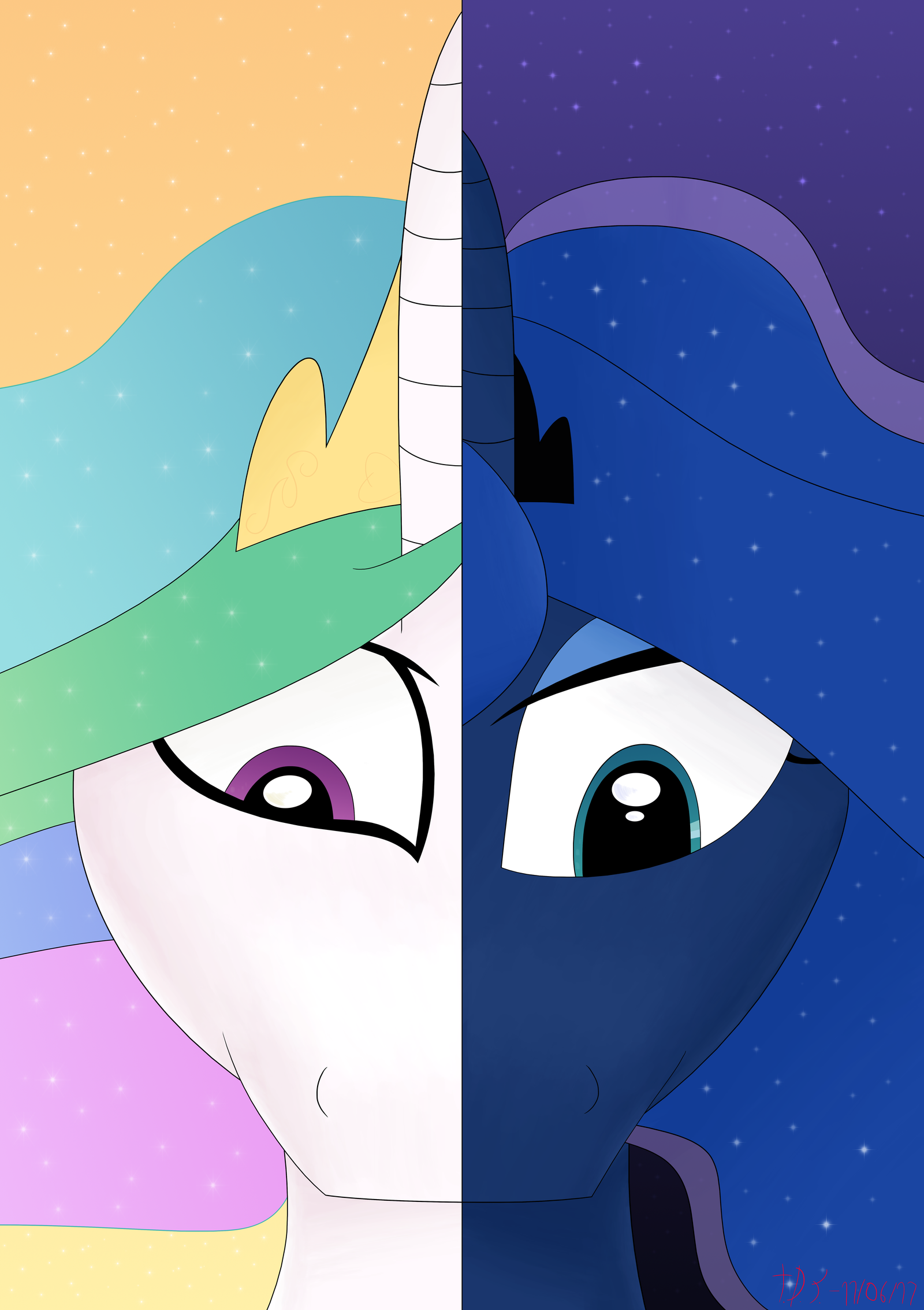 The Princesses of Day and Night by TheDarkSatanicorn