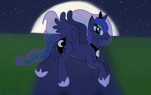 A Silent Night Flight by TheDarkSatanicorn