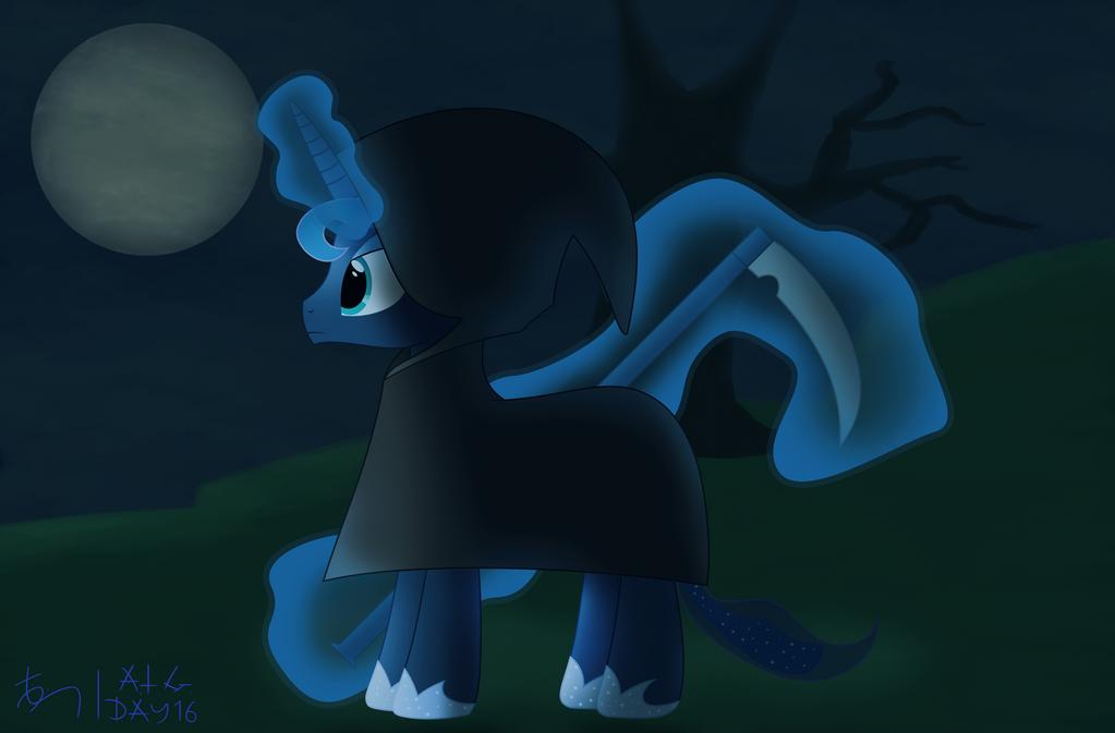 ATG DAY 16: Luna, Reaper of The Night by TheDarkSatanicorn