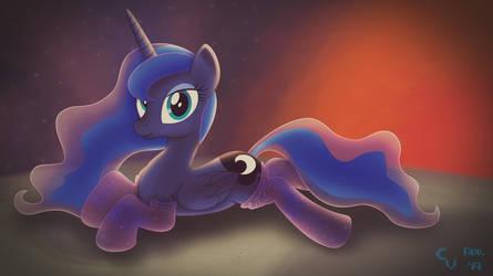Galactic Socks Series - #1: Princess Luna by CosmikVek