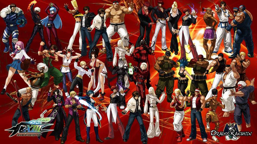 Kof Clark Dibujo Deviantart: Wallpaper Teams KoF XIII By DragonRanshiin On DeviantArt