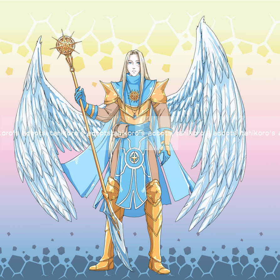 Aasimar cleric of sun - dnd adopt auction [CLOSED] by