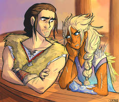 Eret and Stormfly by CHAOTIKproductions