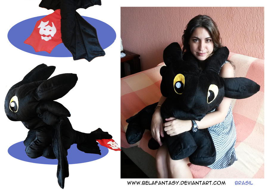 Giant Toothless plush by belafantasy