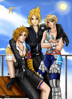 The triplets of final fantasy by viviannefair