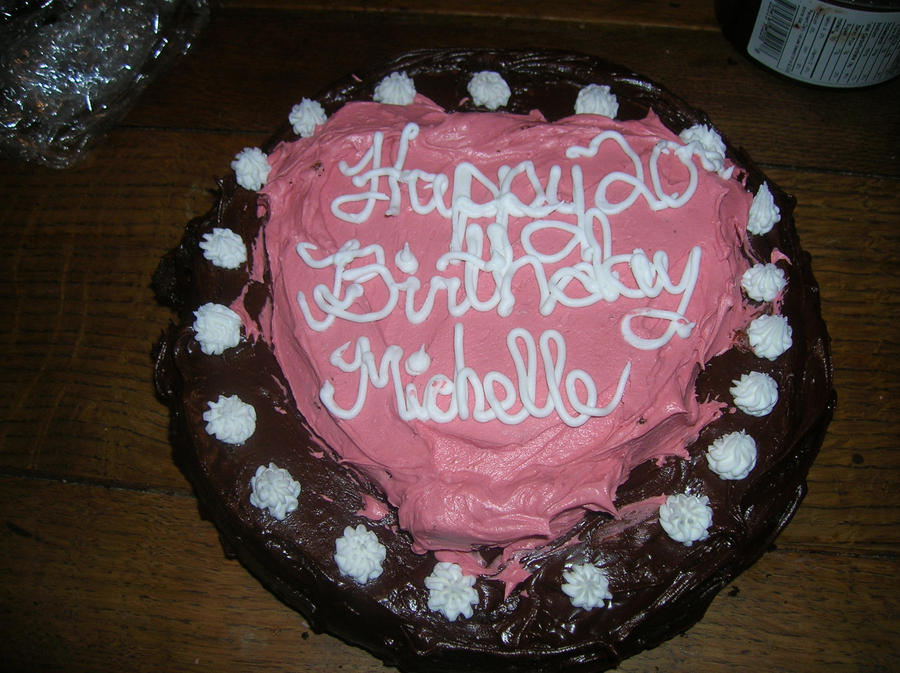 Michelles 20th Birthday Cake By Bloodyblackroses On Deviantart
