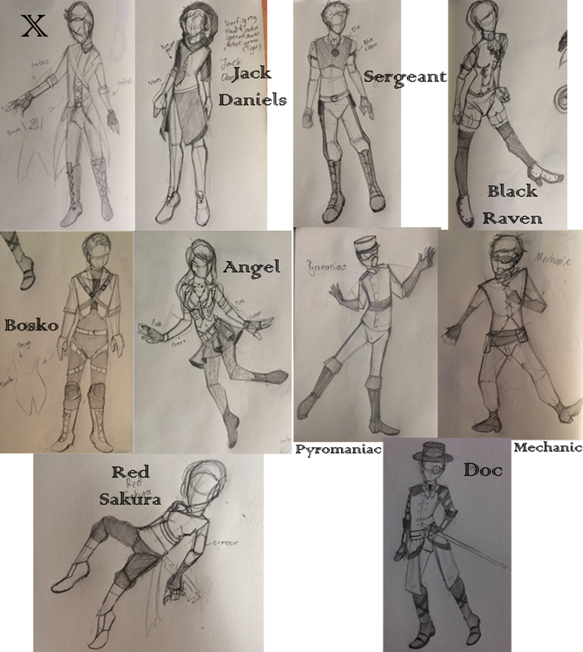 Future attires by PsychoMidori