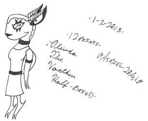 Olivia the Vortken Half-Breed - Adoptable ::OPEN:: by Asriel20Asi