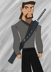 Samurai David Xanatos by DragonSamurai94