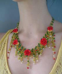 Enchanted Garden necklace worn