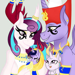 The Royal Family of Anugypt by OwOCrystalCatOwO