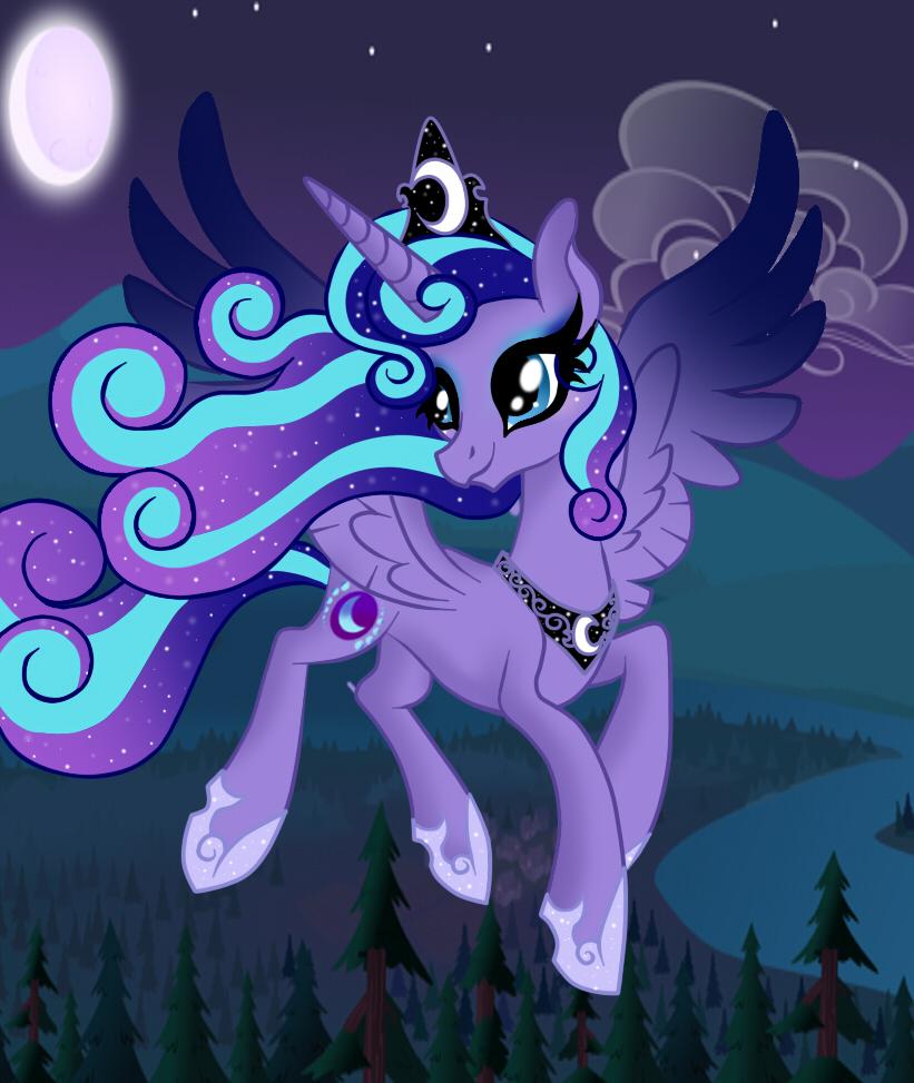 Mlp Next Gen Adult Princess Selene by OwOCrystalCatOwO