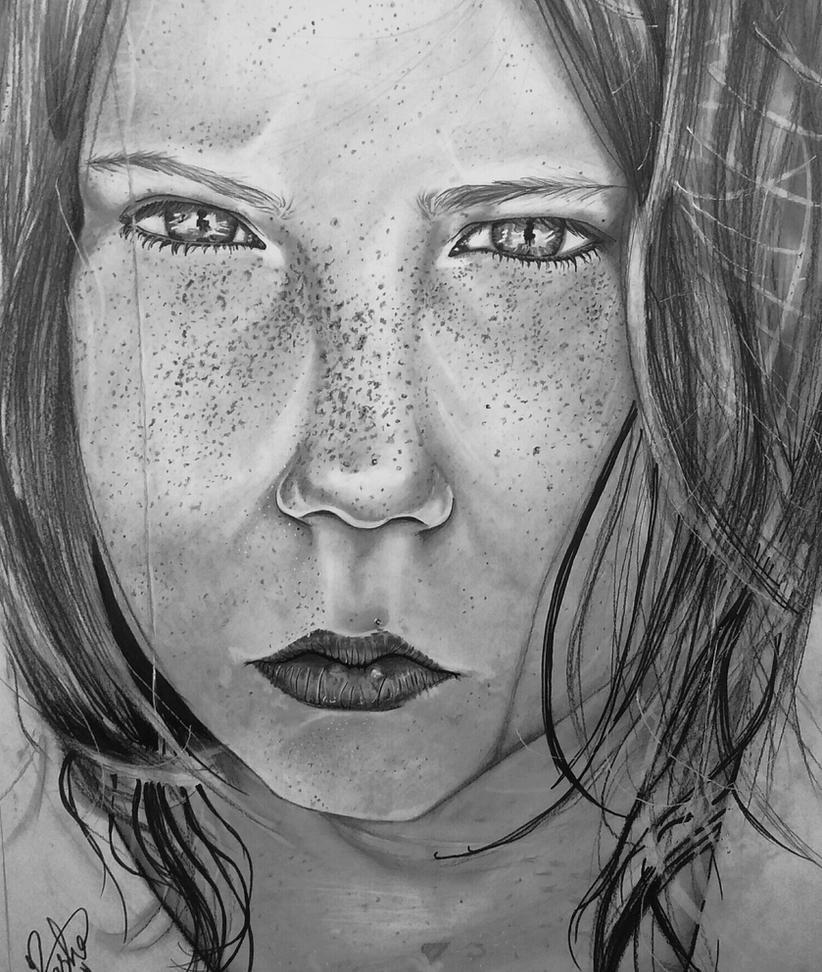 Girl drawing by RashaBH