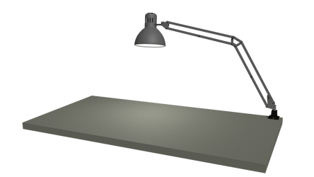 IKEA tabletop and lamp