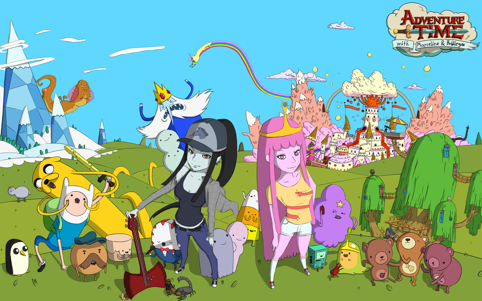 Adventure Time with Marceline and Bubblegum by ...