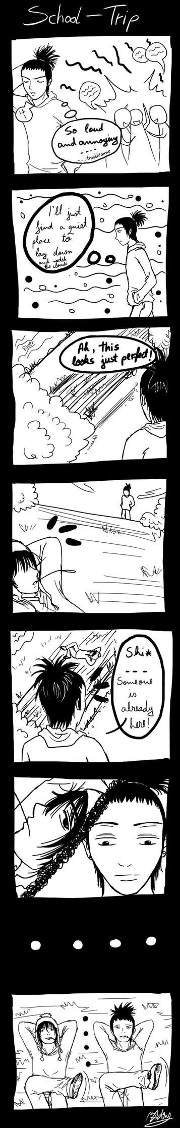 Shikamaru meets Craig by Azareea