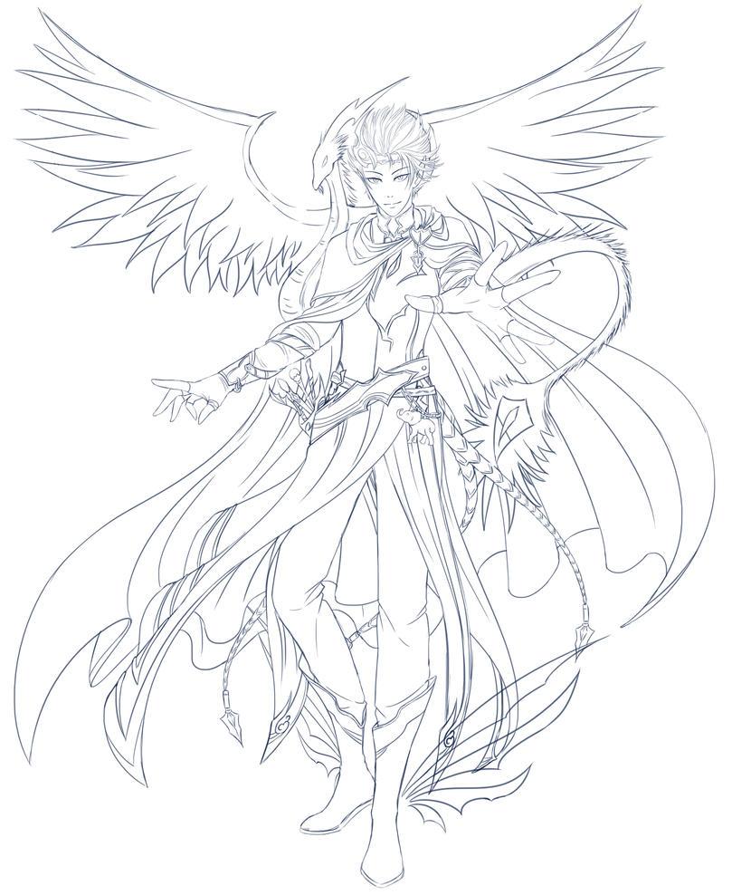 Darius Windrunner - Sketch by Azareea