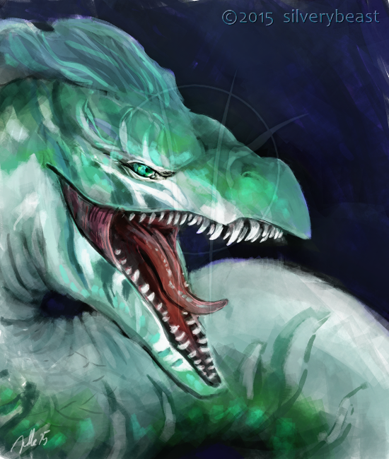 Sea serpent by silverybeast
