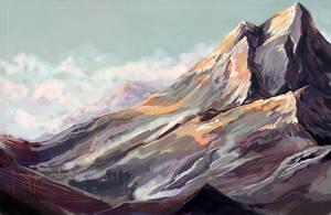 mountain dawn. [+video] by silverybeast
