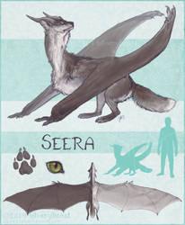 Seera | ref sheet by silverybeast