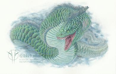 Sea Serpent by silverybeast