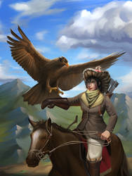 Mongolian Eagle Hunters by ArtDO