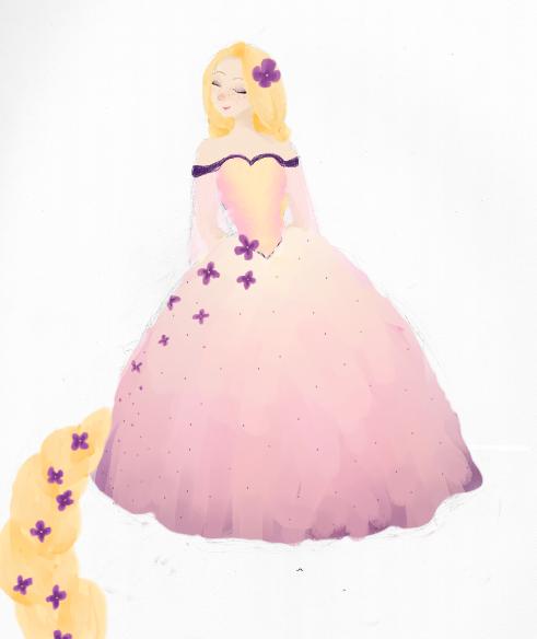 Rapunzel Ballgown 2 by XRobinPercyBeatlesX