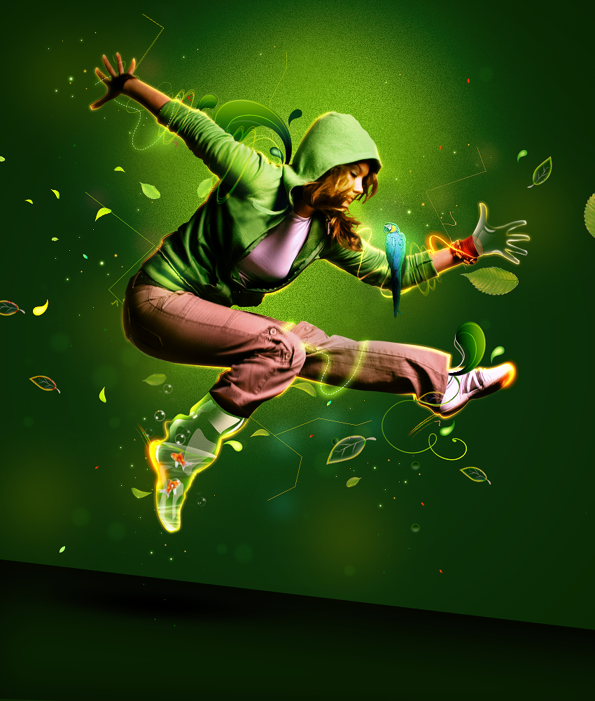 Jump...Green by AkearaYvette