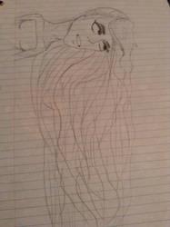Long haired girl by Maryannefan