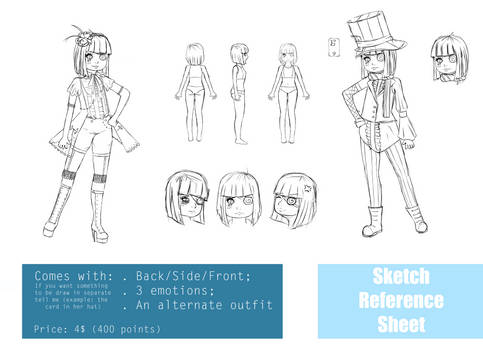 Sketch Reference Sheet Example