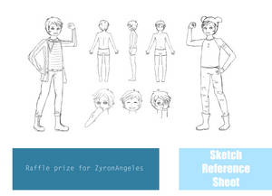 Sketch Reference Sheet - Raffle prize by Kimidoll
