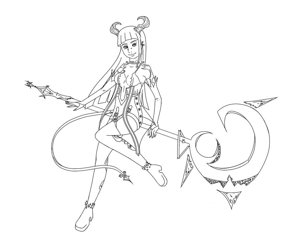 Line art magic by Kimidoll