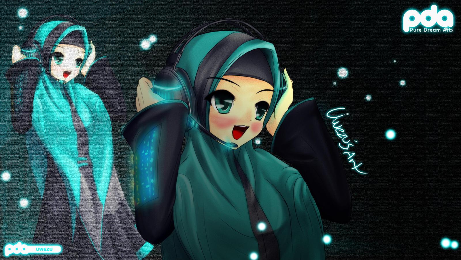 Hatsune Miku Muslimah Style 2 by Uwezu93 on DeviantArt