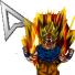 DBZ Goku SSJ2 - Mouse pointer. by TooneGeminiElf
