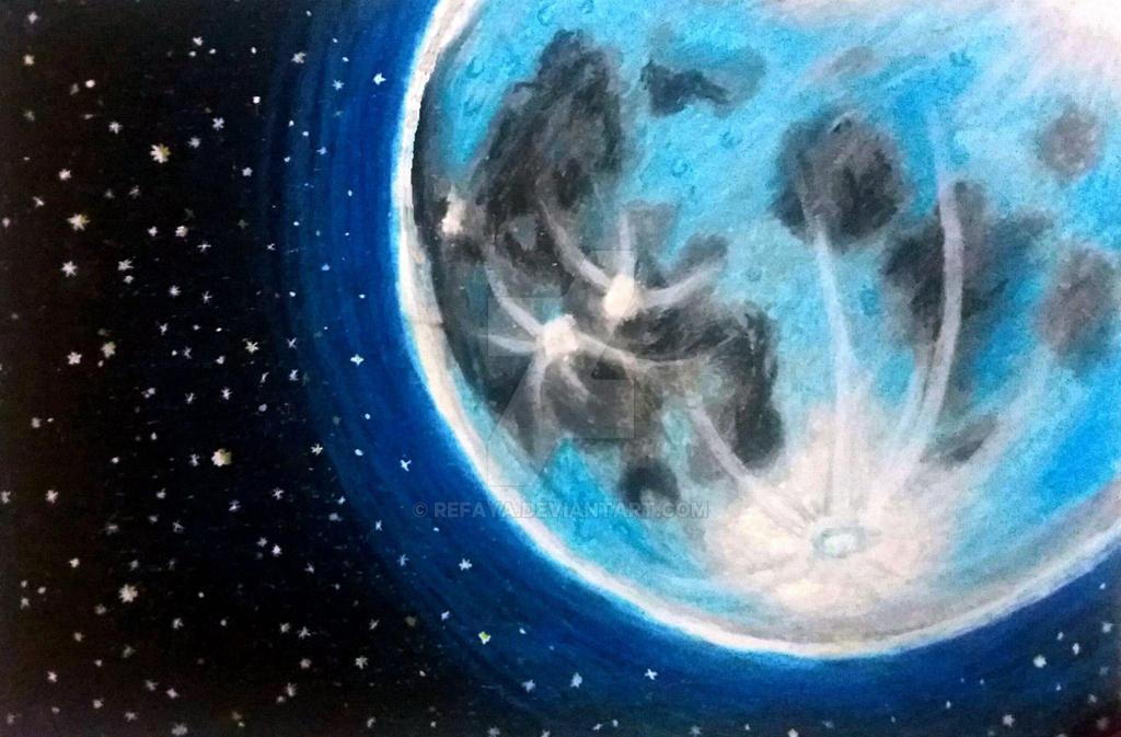 The moon by Refaya