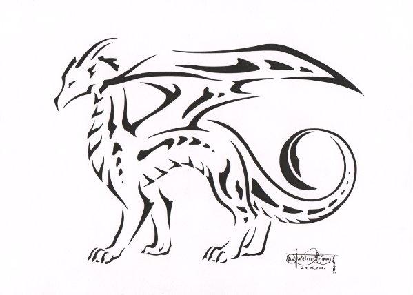Stylish dragon by PanHesekielShiroi