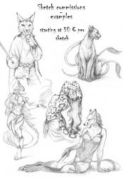 Sketch commissions - opening tonight at 8pm GMT+1