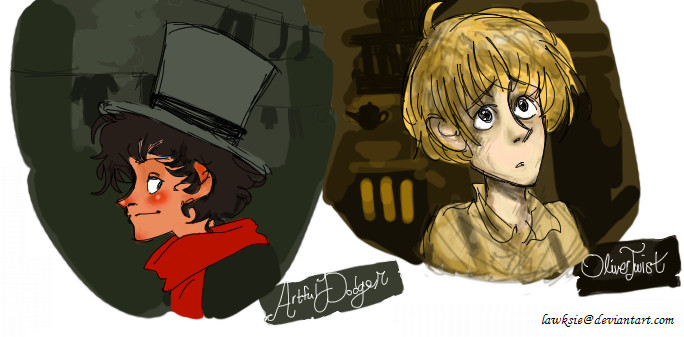Dodger and Oliver by lawksie