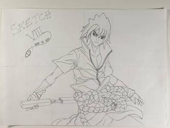 Sasuke Uchiha/Naruto/Sketch VIII by Vila78