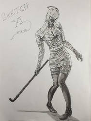 Sexy Nurse//Silent Hill//Konami//Sketch XI by Vila78