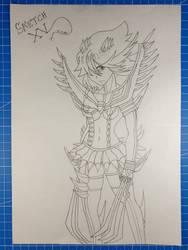 Ryuko Matoi/Kill la Kill/Sketch XV by Vila78
