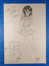 Rukia Kuchi - Kon /Bleach/Sketch XVI by Vila78